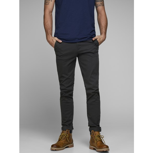 Chinos med stretch MARCO BOWIE SA BLACK