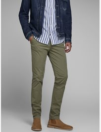 Chinos med stretch MARCO BOWIE SA OLIVE NIGHT
