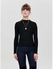 Ribbad långärmad topp Onlemma L/S High Neck Top