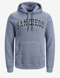 Sweathood med text Jprkev. Blu Sweat Hood
