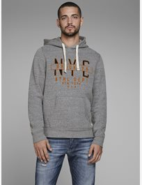 Sweathood med print Jprzef Blu. Sweat Hood